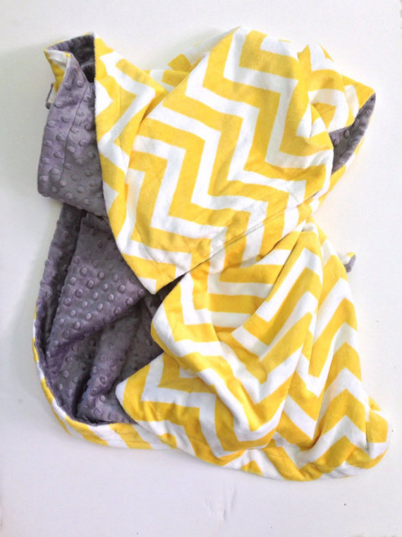 minky baby chevron baby blanket carseat blanket infant blanket baby shower gift size 29 x 36