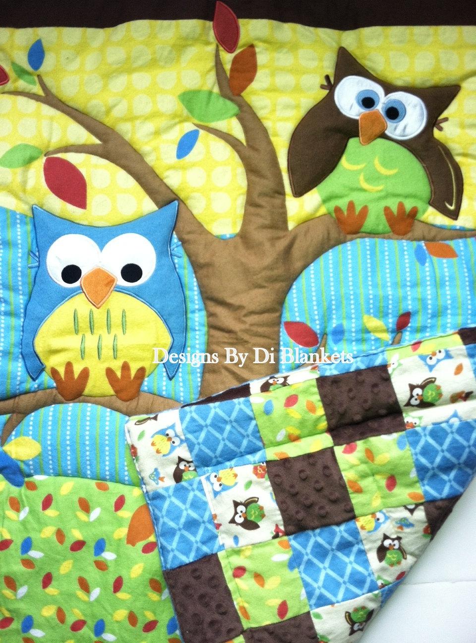 Одеяло совы своими руками